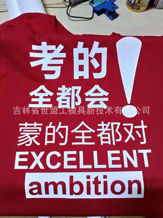 新款广告 文化 团队 同学 聚会 纪念t恤衫定制 高考衣服烫印移印