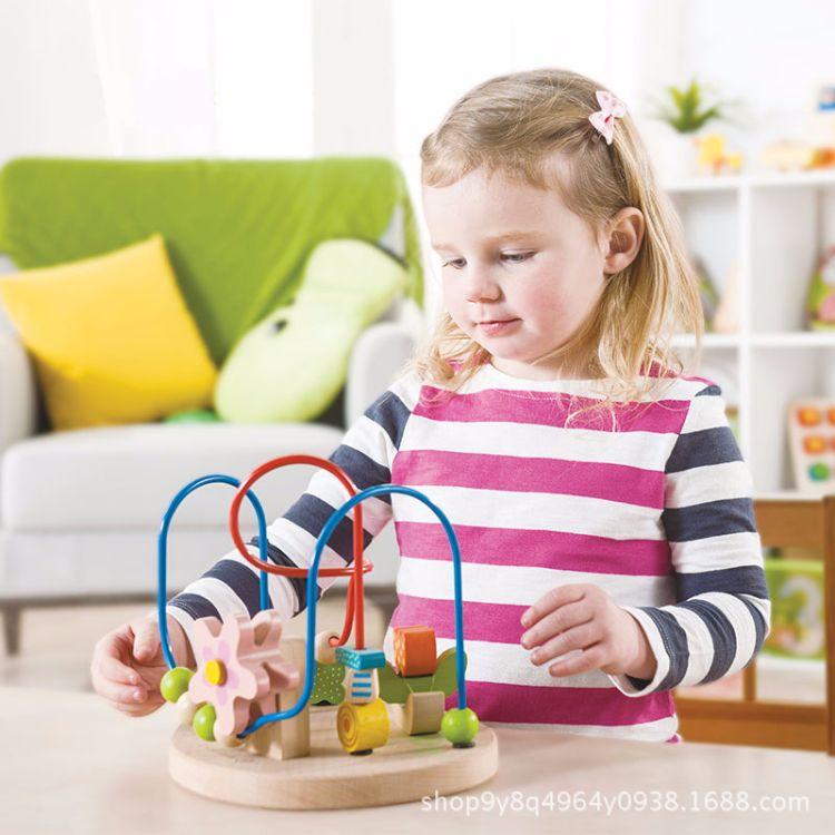 德国EverEarth大花铁线儿童绕珠迷宫玩具益智玩具1-2岁男女孩宝宝