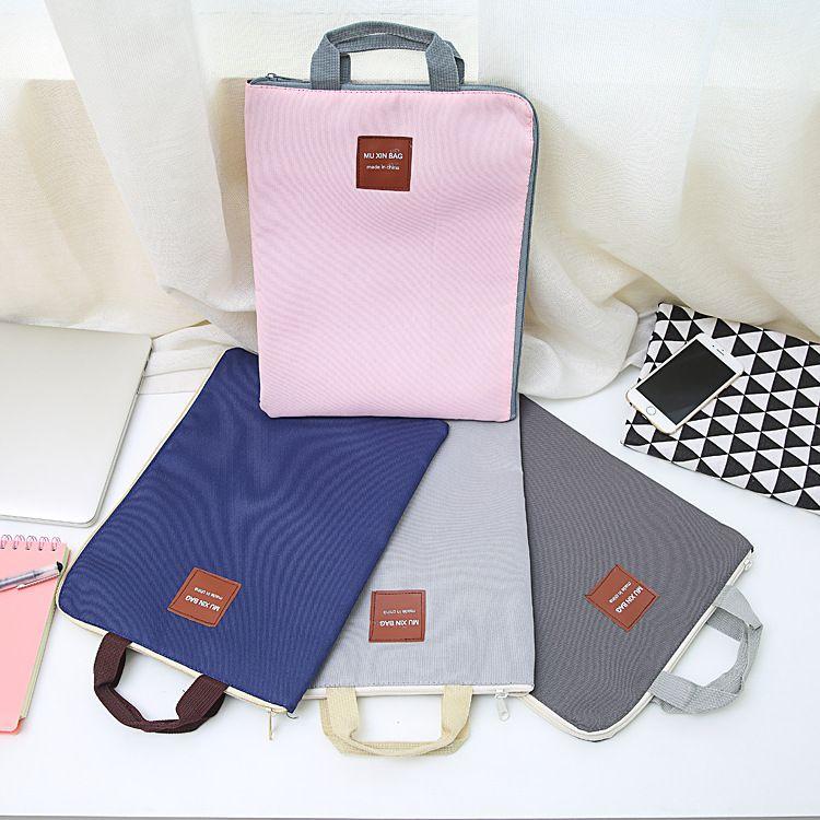 韩版多功能多层A4文件袋手提iPad电脑包手机牛津帆布公文包批发