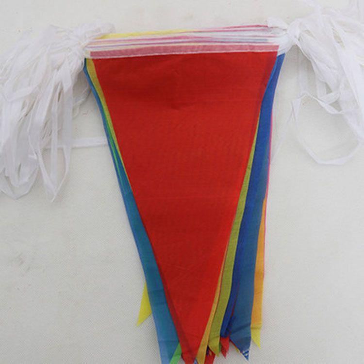 厂家生产 串旗彩旗定做开业婚庆布置五色三角串旗大量警示旗