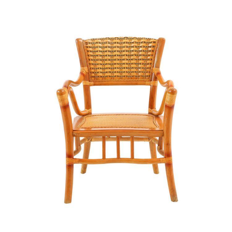 昌盛藤器 藤编太师椅厂家可定制 茶椅会议桌椅 新中式时尚简约餐椅厂家直销