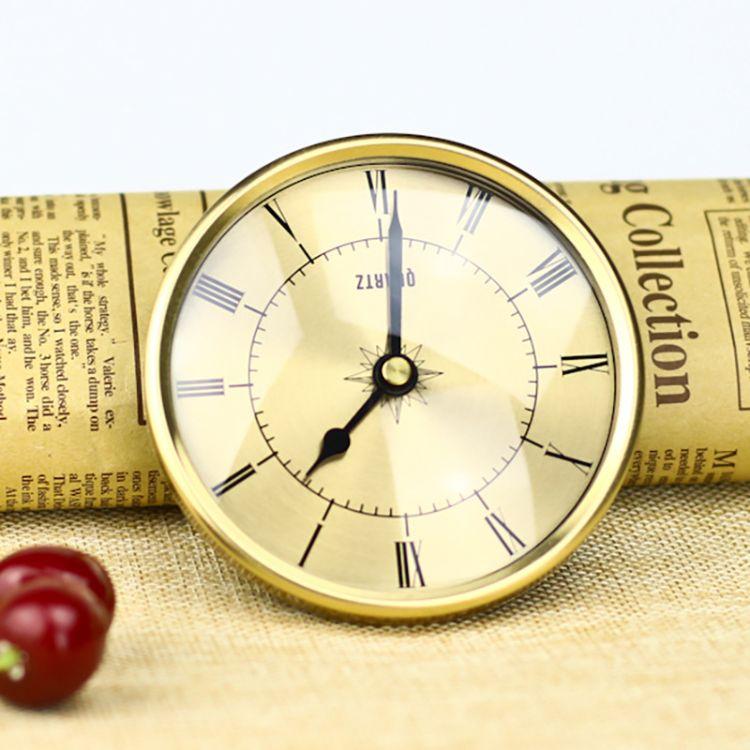 90mm镶嵌入式高级工艺品礼品金属表头钟头有其他规格