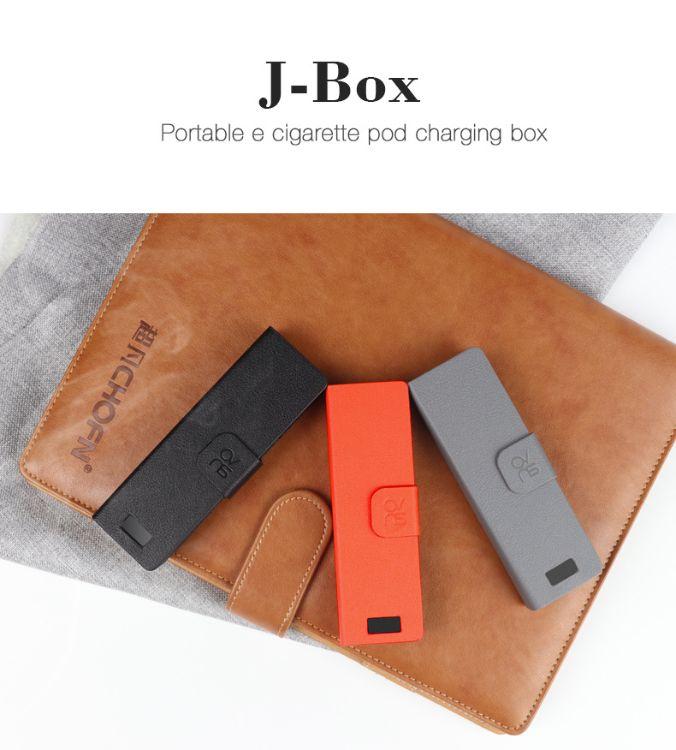 OVNS正品充电盒子J-BOX足容量1200毫安电子烟扁烟套装Pod