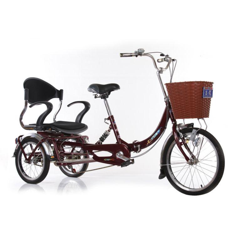 玉龙牌老年代步三轮车 老年人脚踏三轮车 颜色多选现货批发