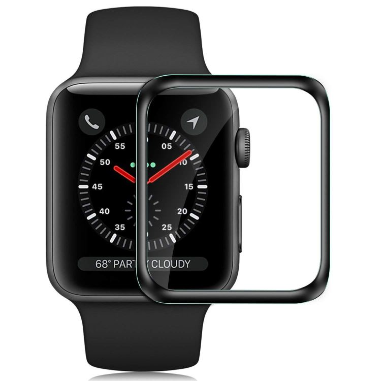 适用Apple Watch4 3D手表全覆盖钢化玻璃膜苹果手表4代贴膜钢化膜