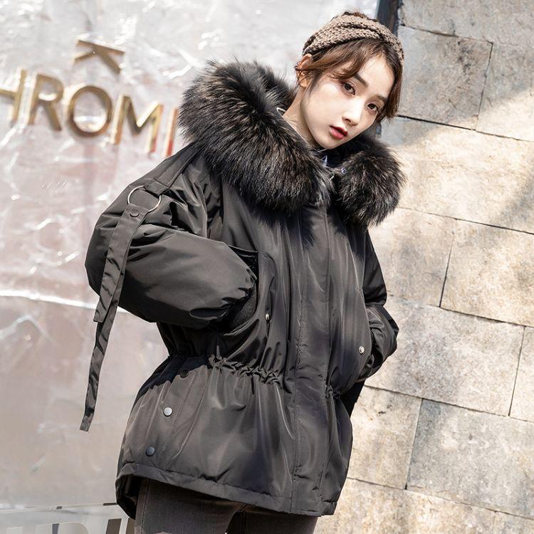 2019冬装韩版女装新款宽松反季短款羽绒服女时尚加厚大毛领外套潮淘宝直播货源