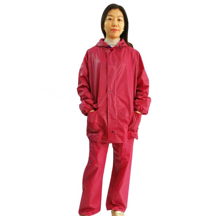 顺利雨衣雨裤套装 电动车徒步分体单人雨衣加厚成人户外雨披批发