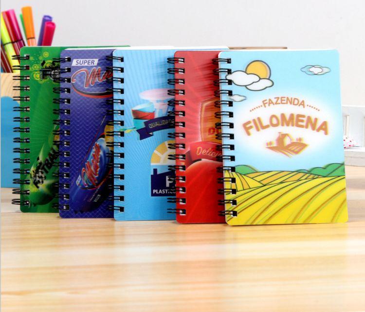 厂家加工 3D线圈笔记本、三维立体卡通线圈本、 PP封面笔记本