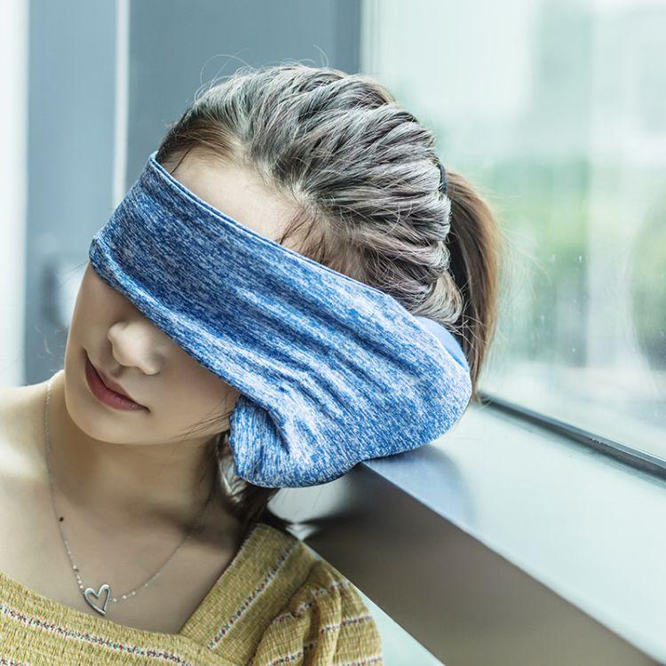 ROLLPARK户外旅行眼罩枕便携飞机旅游护颈枕睡枕颈椎枕多功能靠枕