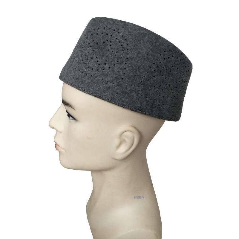 伊斯兰教男士礼拜帽穆斯林回民族 镂空五角星帽专用 羊毛尼礼帽子