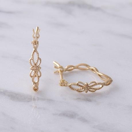 日本纯银s925镂空花纹 耳环 耳扣 耳坠古典花纹镂空耳环浮雕耳圈