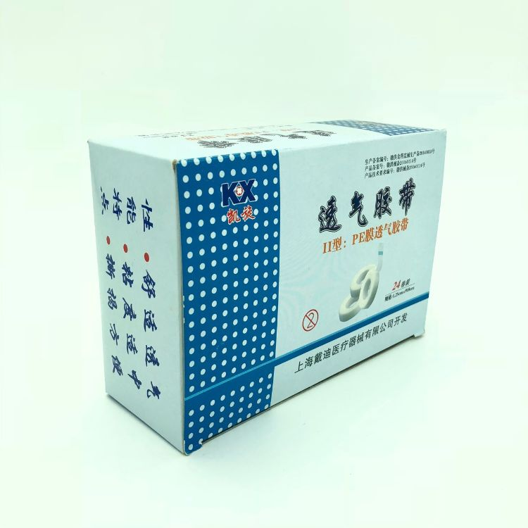 凯旋胶布II型:PE膜透气胶带透明24卷/盒1.25*910cm