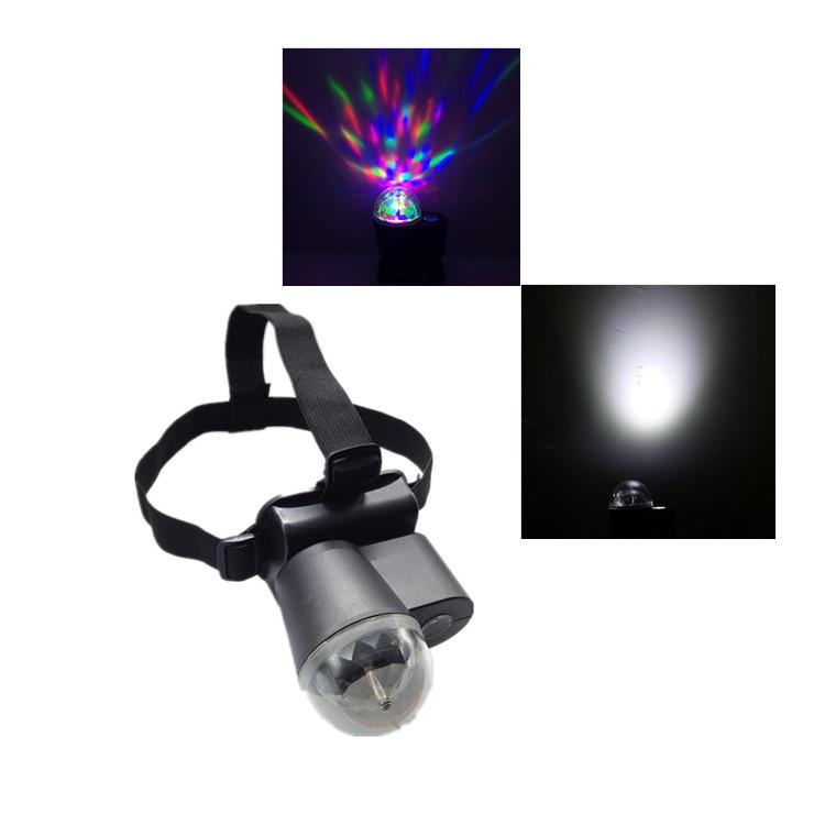 LED水晶魔球舞台灯 90度自由调节 彩光/白光 户外露营戴头式魔球