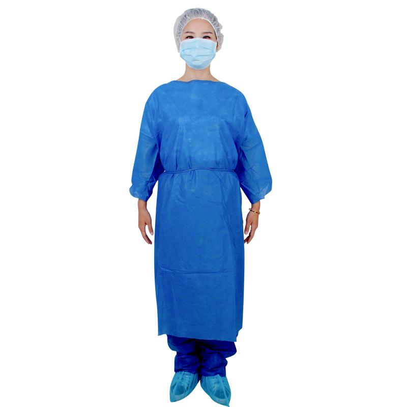 厂家定制男女一次性无纺布深蓝隔离服 防尘透气无纺布工作防护服