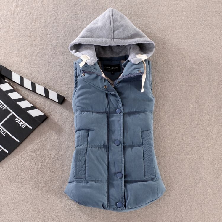 新款2018韩版修身短款羽绒棉马甲外套女坎肩棉衣马夹女装棉服潮