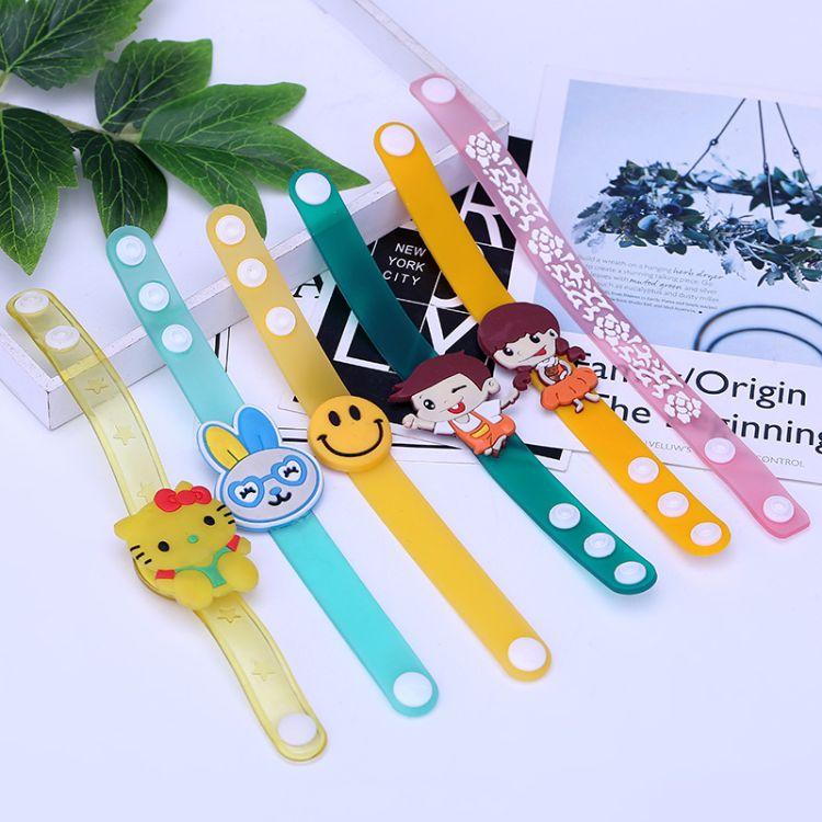新款创意儿童PVC软胶手腕带, 广告促销卡通礼品厂家直销