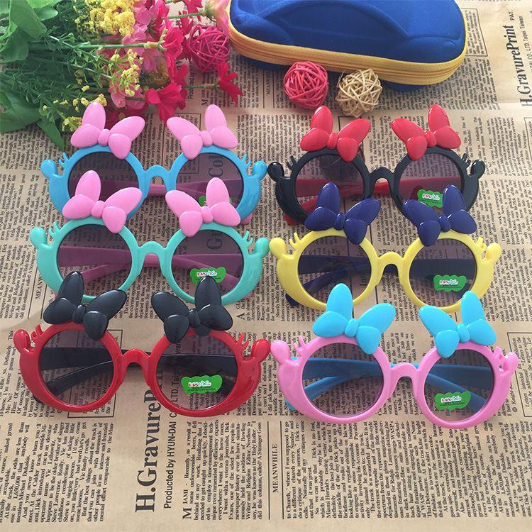 1354可爱蝴蝶结儿童太阳眼镜防紫外线潮墨镜厂家直销