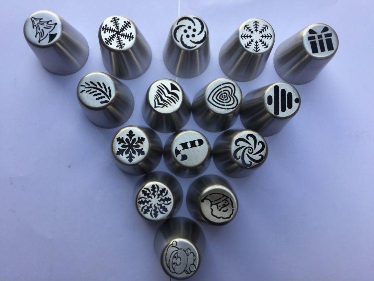 厂家直销304不锈钢大号俄罗斯裱花嘴 一体成型裱花嘴烘焙工具模具