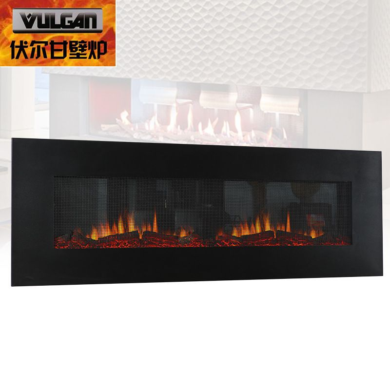 仿真壁炉 伏尔甘新品66寸壁挂式电壁炉led仿真火焰