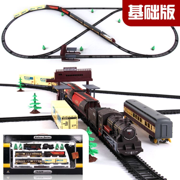 小火车轨道玩具套装 超长电动轨道车仿真模型儿童托马斯玩具批发