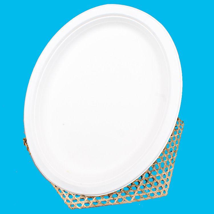 厂家直销一次性甘蔗桨纸浆纸浆餐具6寸小圆盘可定制