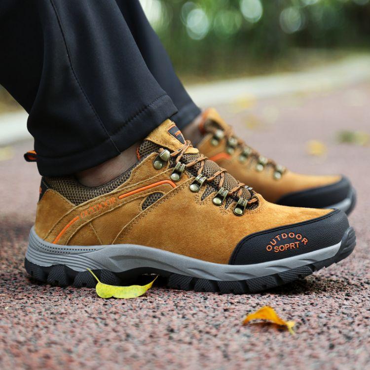 2018冬季男士新款户外登山鞋低帮大码男鞋防滑耐磨保暖旅游徒步鞋