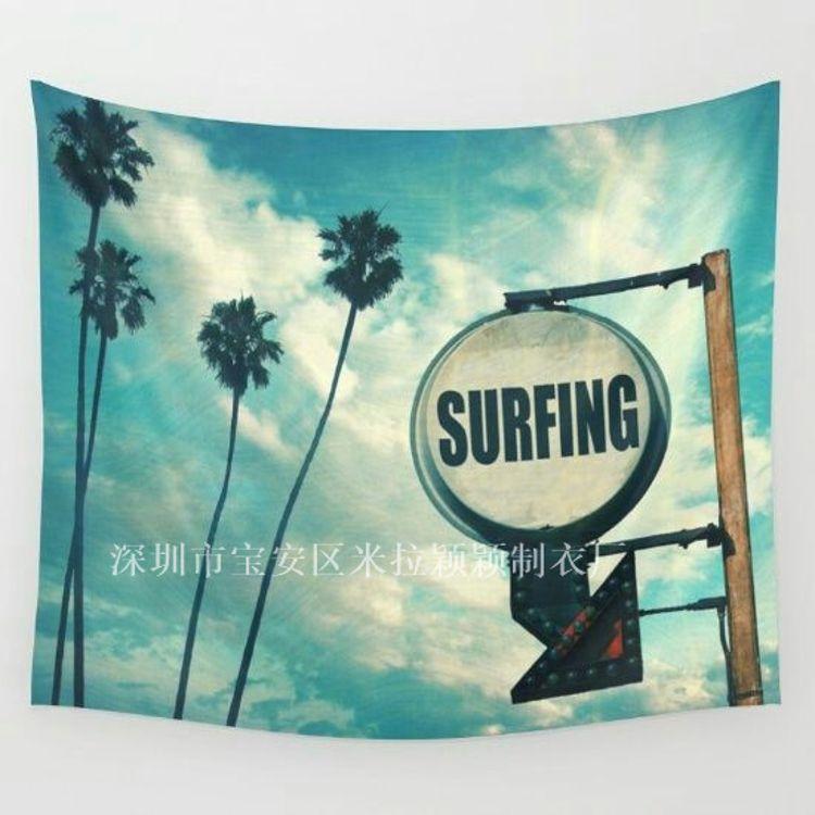M227速卖通ebay 欧美波西米亚印花风景家居挂毯 挂布 壁画 沙滩巾