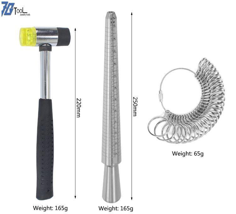美度戒指棒+ 美度戒指圈 戒指手指测量工具 手寸棒组合套餐