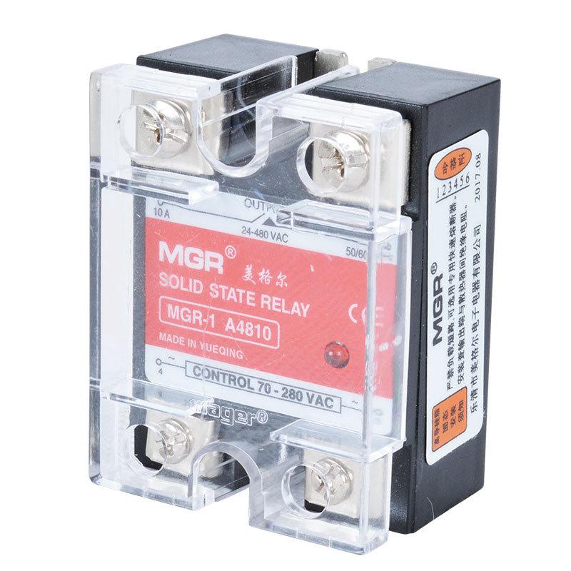 厂家直销质保一年 固态继电器 直流 美格尔 单相固态继电器10a