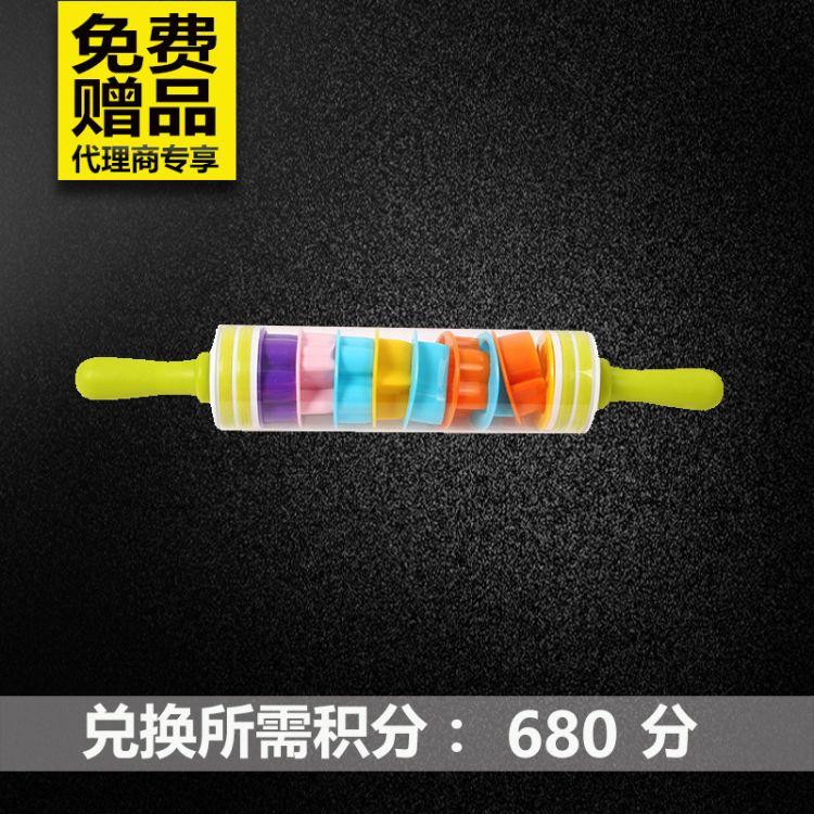 大号多功能压花印花PP擀面杖 儿童玩具多功能组合套装烘焙擀面杖