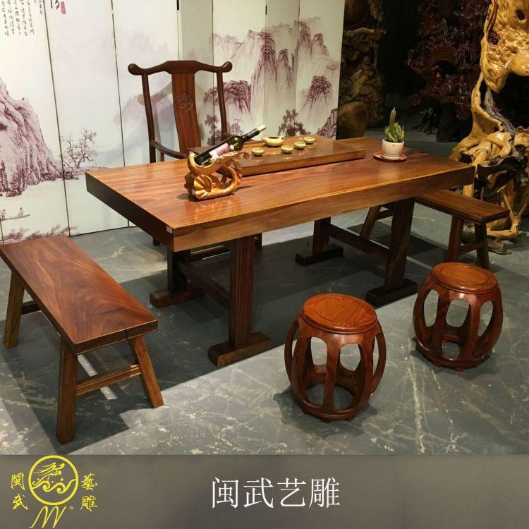 奥坎实木大板 奥坎大板 非洲花梨木茶书桌办公桌 厂家批发定制
