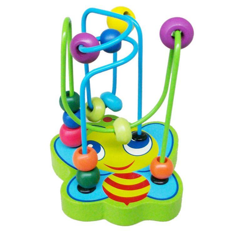 木制益智玩具 绕珠玩具 动物小绕珠 迷你动物轨道迷宫 0.2