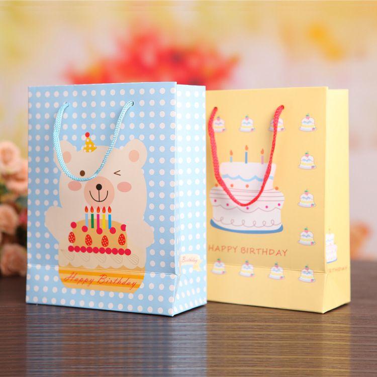 义乌厂家2016创意喜糖袋大小号宝宝生日满月手提袋回礼纸袋批发