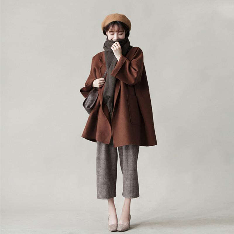 2018大码女装秋冬新款微胖mm洋气套装减龄显瘦外套阔腿裤子两件套