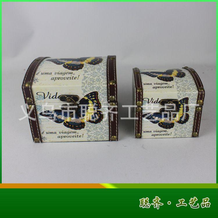 美式乡村 英伦风木质首饰盒 创意礼品 两件套收纳盒 工艺品批发