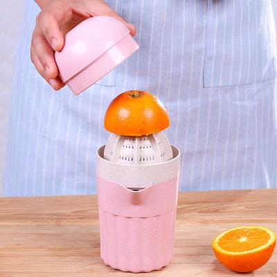 手动家用榨汁机 水果压汁器 迷你塑料果汁机 柠檬压汁机 榨汁杯