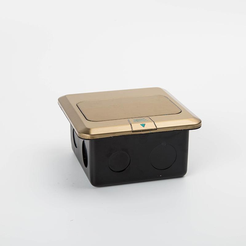 不锈钢镀铜 五孔快弹式地面插座 工程款 送底盒