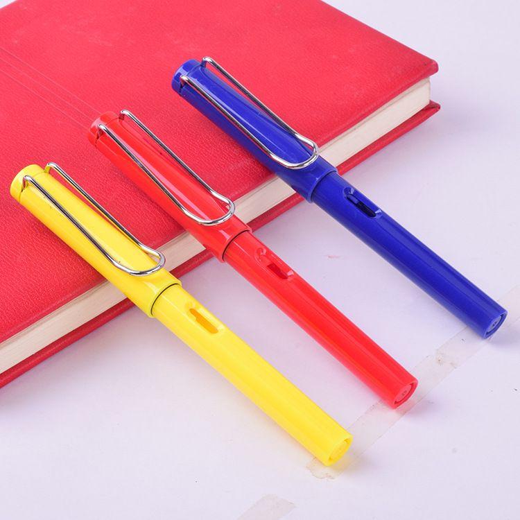厂家批发 多彩金属塑料款学生正姿钢笔办公宝珠笔 可定制激光logo
