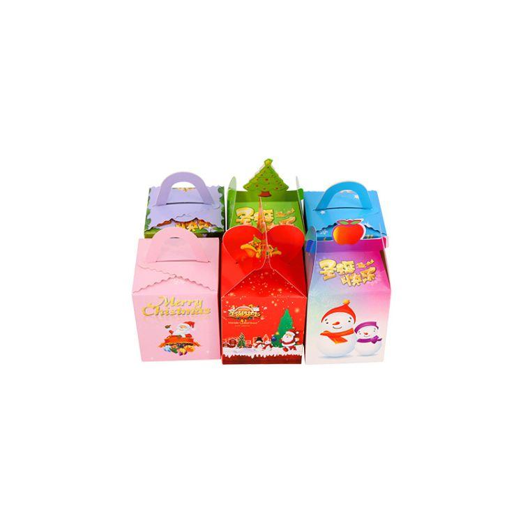 现货平安果彩盒圣诞节平安夜苹果礼盒新款苹果白卡盒包装盒可订制