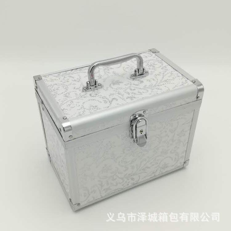 专业铝合金手提多层大号化妆箱批量定做多功能美容美甲足浴化妆品