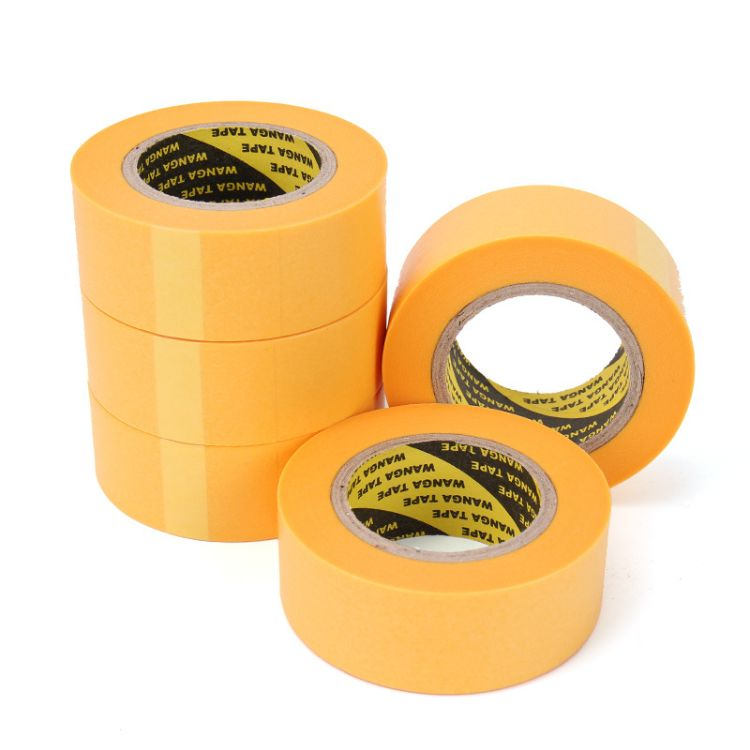 厂家直销和纸高粘美纹纸胶带 可写字分色纸 黄色喷漆遮蔽纸批发
