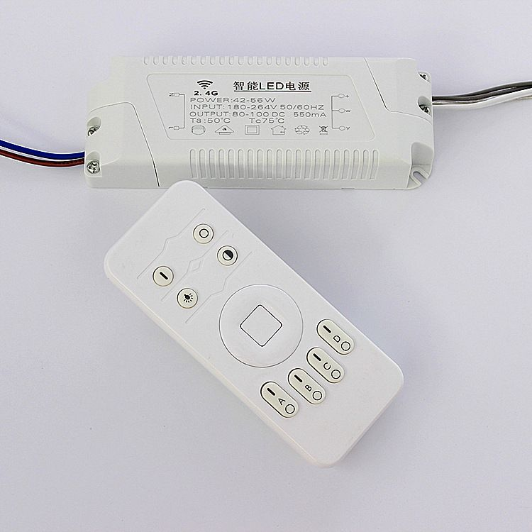 2.4G LED专用遥控器 无极调光调色温驱动电源42-56W厂家直销