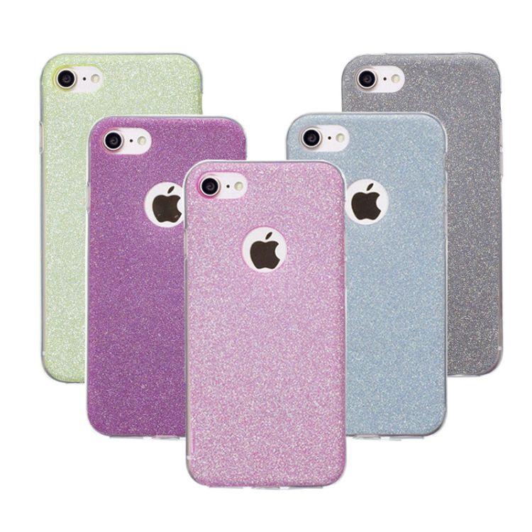 适用iphone7手机壳超薄镂空壳闪粉苹果6splus软TPU防摔保护套批发