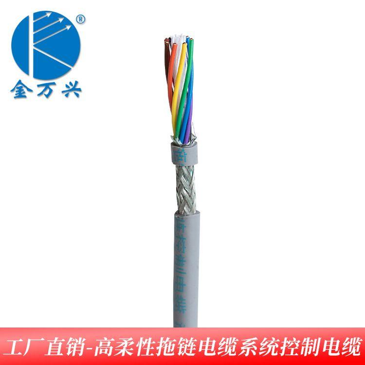 金万兴DP总线高柔性屏蔽线耐弯曲拖链电缆VDE电子线光伏线