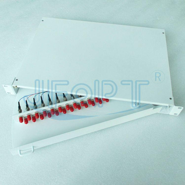 上海热销24口新款ST白色旋转光纤配线架生产厂家电缆交接箱批发商