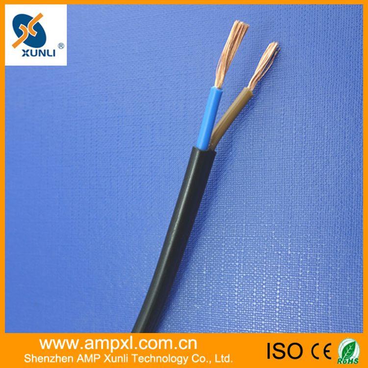 厂家直销 安普兴利 RVV国标软护套线 铜芯2芯1.0平方电线 电源线
