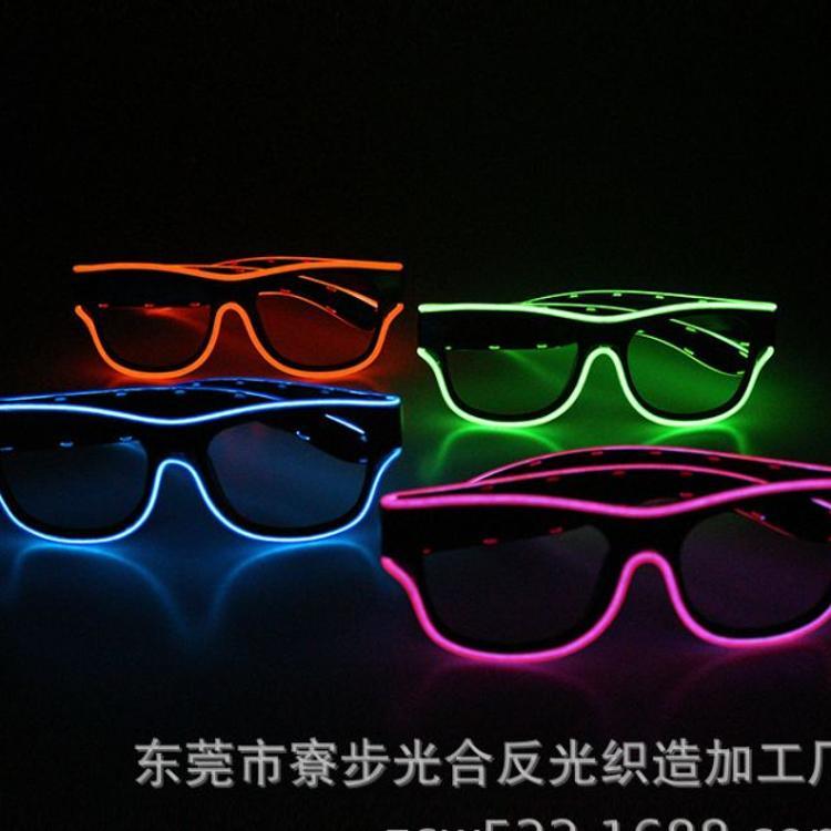 厂家直销光合厂2019年新款USB时尚冷光发光眼镜适合演出演唱会