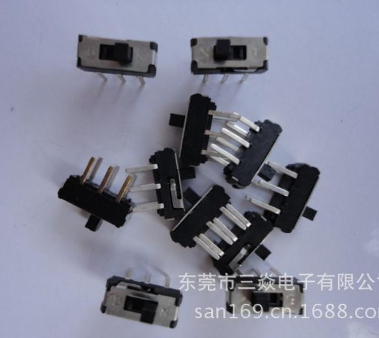 厂家直销双极双位MINI拨动开关MSS-22D18六脚拨动 立式插件