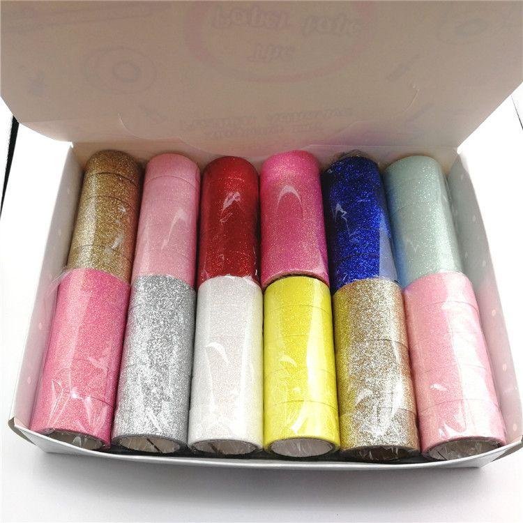 闪粉胶带 DIY装饰胶带 韩国文具胶带手帐胶带 礼物胶带
