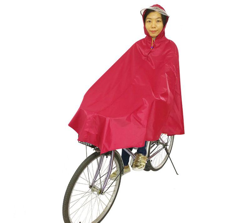 单人反光包边自行车雨披男女士成人骑行摩托车大帽檐牛津雨衣